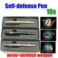 10 pçs/lote Ferramentas acampamento ao ar livre proteção arma Tactical pen self Defense Sobrevivência ao ar livre de Alumínio de Aviação