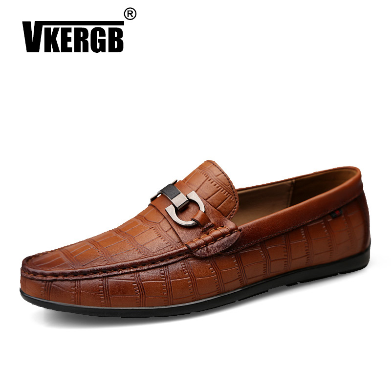 Crocodile Style Men Brand Casual Shoe Driving Male Shoes Adult Lazy Loafers moccasin Flats Shoes Summer Fashion Peas Casual Shoe in Men 39 s Casual Shoes from Shoes