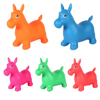 1 pc ילדים בעלי החיים קופצני הופר סוס סוס קפיצות סדרן מתנפח צעצועים לרכב על צעצועים לתינוק לשחק ילד משלוח אקראי
