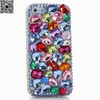 Luxury Rõ Ràng Pha Lê Rhinestone Kim Cương Phone Case Cho Samsung Galaxy S8 Cộng Với S6 S7 Cạnh S5 S4 S3 DIY Mềm TPU Trường Hợp Che Shell