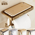 European Luxury Antique towel rack roll holder toilet paper cassette holder hygiene tissue box Continental gold free shipping