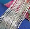 Оптом 10штук/лот, Модные ожерелья из серебра 925 пробы, 1 мм цепочки из серебра 925 пробы, колье-цепочка 16\