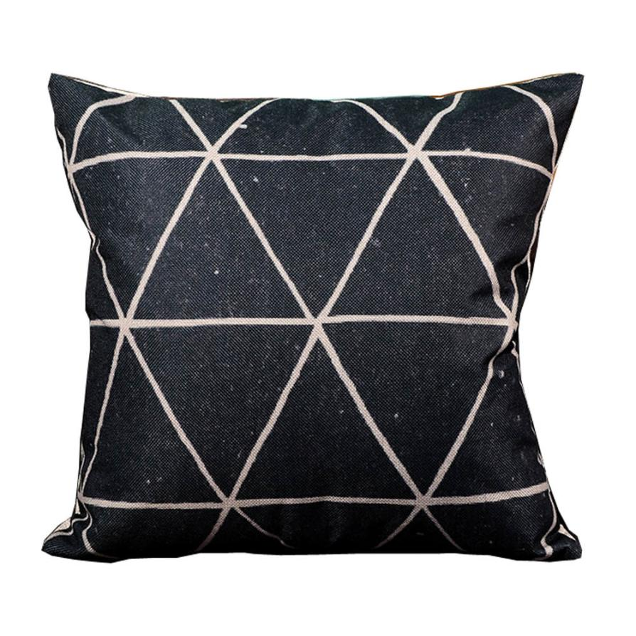 Ouneed Twill Pillowcase Black Hot Sell Cushion Case For Home Use Comfortable for Bed Shop Gift Library Happy Sale ap508