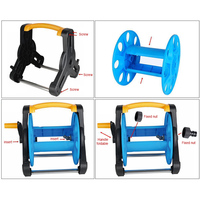 Garden Hose Reel Stand Water Pipe Storage Rack Cart Holder Bracket for 35m 1/2 Inch Hose J2Y
