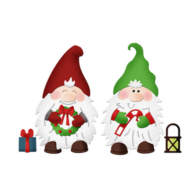 Christmas Gnomes.Us 1 72 31 Off Christmas Gnomes Craft Dies Metal Steel Cutting Dies For Diy Scrapbooking Embossing Paper Cards Decorative Crafts Dies Cut In Cutting
