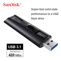 SanDisk Extreme PRO USB3.1 Solid State Flash Drive128GB 256GB 420MB\/s Super Fast Solid State Performance In a USB Flash Drive