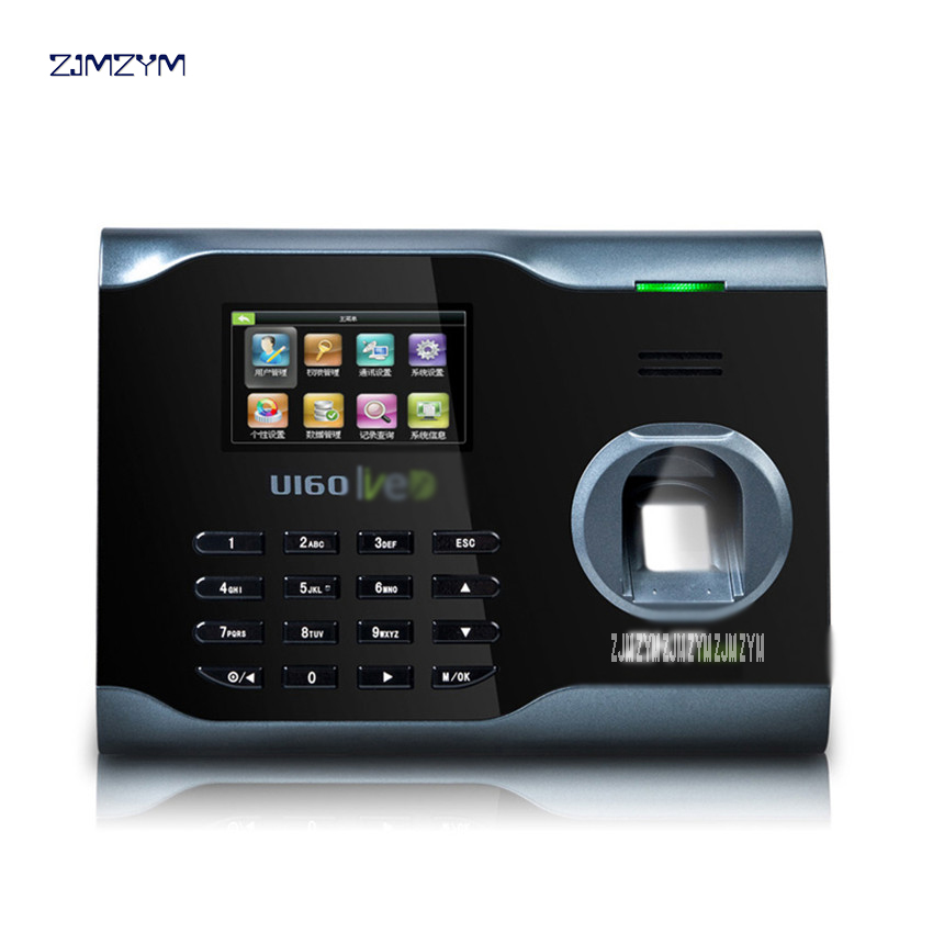 WIFI TCP/IP Biometric Fingerprint Time Clock Recorder Attendance Employee Electronic Punch Reader Machine U160 Time RecordingWIFI TCP/IP Biometric Fingerprint Time Clock Recorder Attendance Employee Electronic Punch Reader Machine U160 Time Recording
