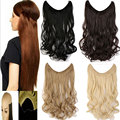 20 inch fish line in hair extension hairpiece synthetic weave extensions mega hair piece 12Colors available hair weave
