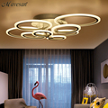 Remote control modern led ceiling lights for living room bedroom lamparas de techo dimming led ceiling lights lamp fixtures