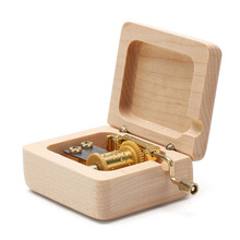 Creative Upscale Hand-cranked Wooden Music Box For
