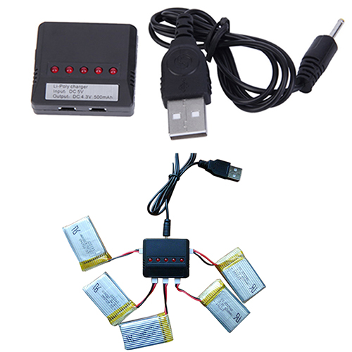 5 in 1 Lipo Battery USB Charger Adapter for Syma X5C 1 X5C Drone UFO Quadcopter