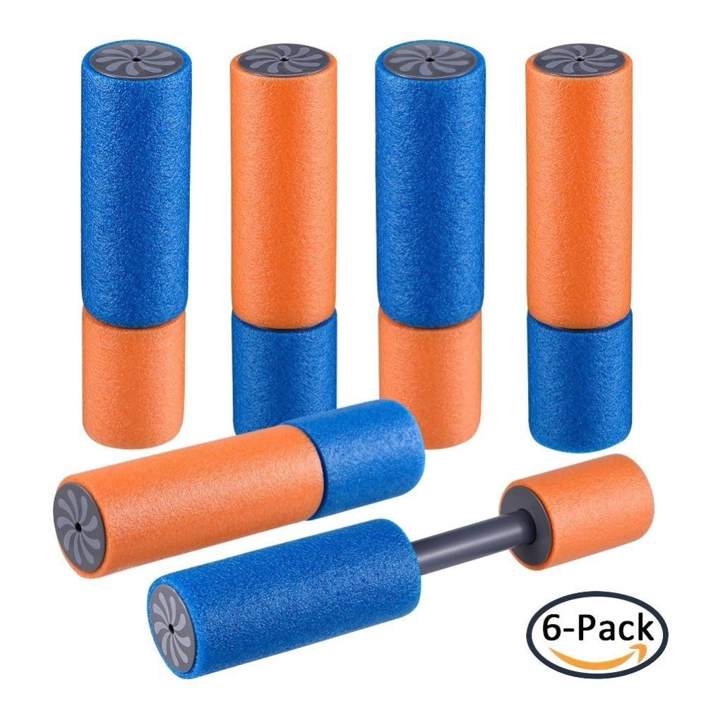 Small Water Guns 6 Pack Super Light  Soaker Foam Water Shooter Toys For Kids Summer Swimming Pool Beach Bath