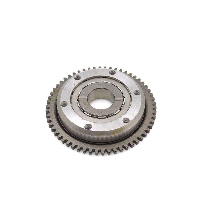 For Honda CBF125 CBF150 KTT150 WH 150 Motorcycle One Way Bearing Starter Clutch Assembly 58 Gear Teeth Threaded Hole Clutch