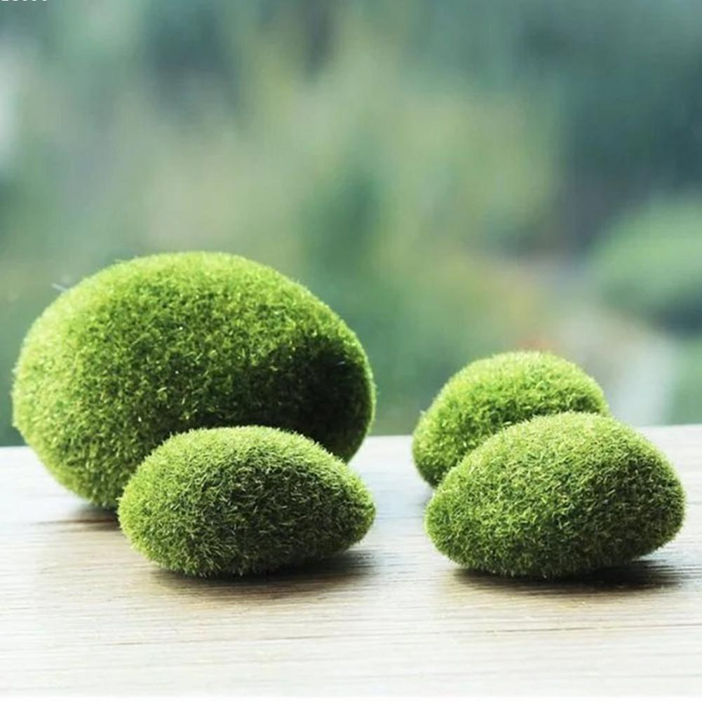 2pcs Fish Tank Dolls House Miniature Fairy Garden Accessory Focking Plant Fake Moss Diy 2017 Newest Hot Sale W5