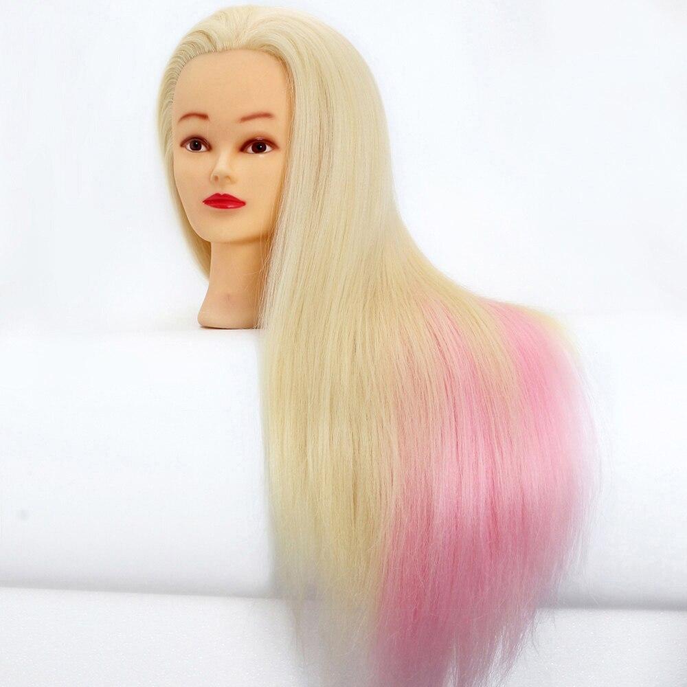 Tête de Mannequin d'entraînement de Mannequin de coiffure de 65 cm têtes à vendre tête de perruque de cheveux factice professionnelle pour des coiffures