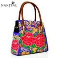 National Bag Handbags Women Casual Chinese Ethnic Embroidery Bags Vintage Ladies Shoulderbags Handmade Handbag For Woman