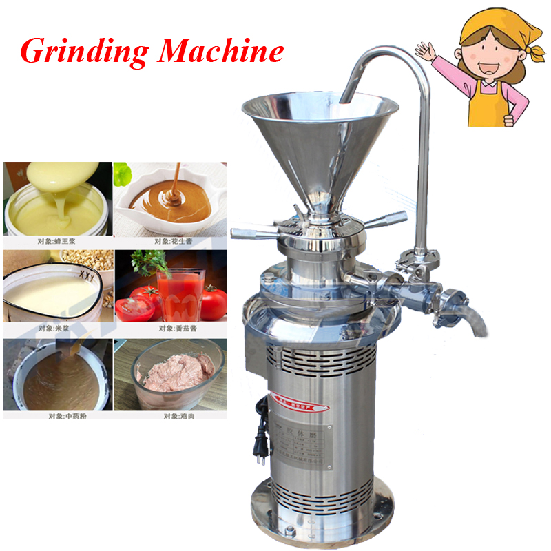 Coating Grinding Machine Colloid Mill Sesame Colloid Mill Peanut Butter Colloid Mill Soybean Grinding Machine JML50 peanut butter machine corn crusher stone mill soymilk mini dry wet eletric stone grain mill sesame butter machine 220v 500 750w