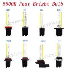 Car Headlight AC 35W 55W Bulb Bulb 5500K For DLT Hylux 35W 45W 55W HID Ballast Kit H7 H11 9005 9012 D2H H1 Fast Bright HID Bulb