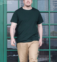 Männer Oberseiten-stück 2016 Sommer Neue Baumwolle Grundlegende Oansatz Kurzarm Plus größe t-shirt Männer Mode M L XL XXL XXXL XXXXXL CH012