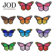 JOD Butterfly Flowers Clothes Patches Ironing Applications for Tops Clothing Stickers Thermo Adhesive Apparel Iron on Applique