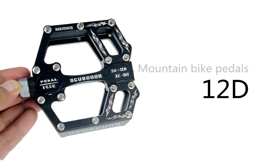 Aluminum MTB XC Mountain Road Bike Pedals 3 sealed Bearings flat Platform Pedal