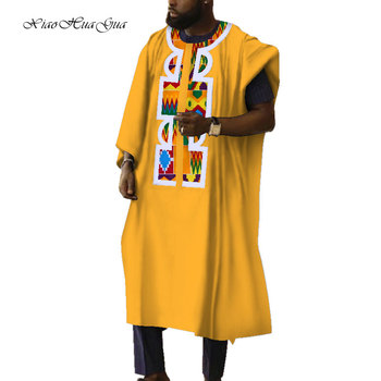 African Clothes Mens Causal Long Robes Traditional African Print Wax Loose Round Neck Print Robes Batik Plus Size 6XL WYN603