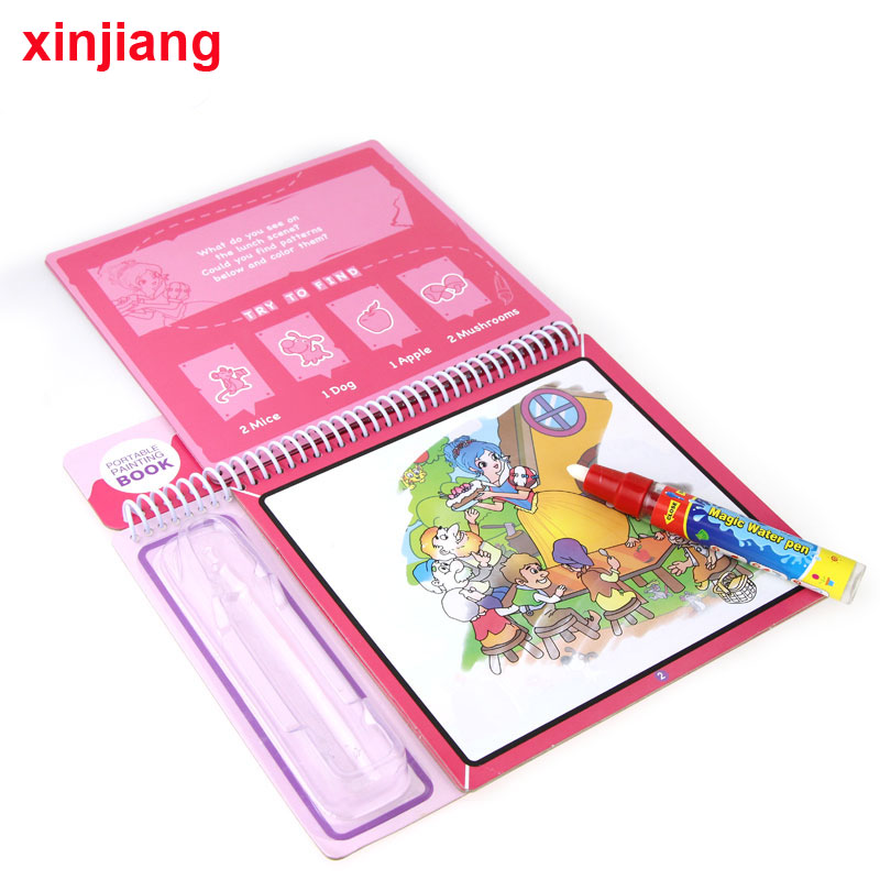 Magic Water Drawing Book For Kids with Magic Pen Early Educational Toy
