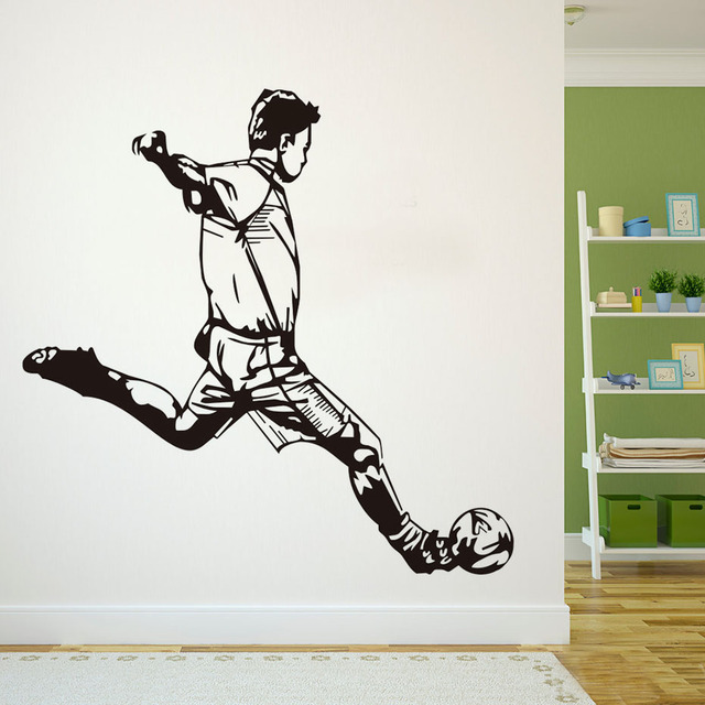 A Cool Man Sports Wall Decals Special Design Football Wall Children Bedroom  Footbal Decal Art Stickers