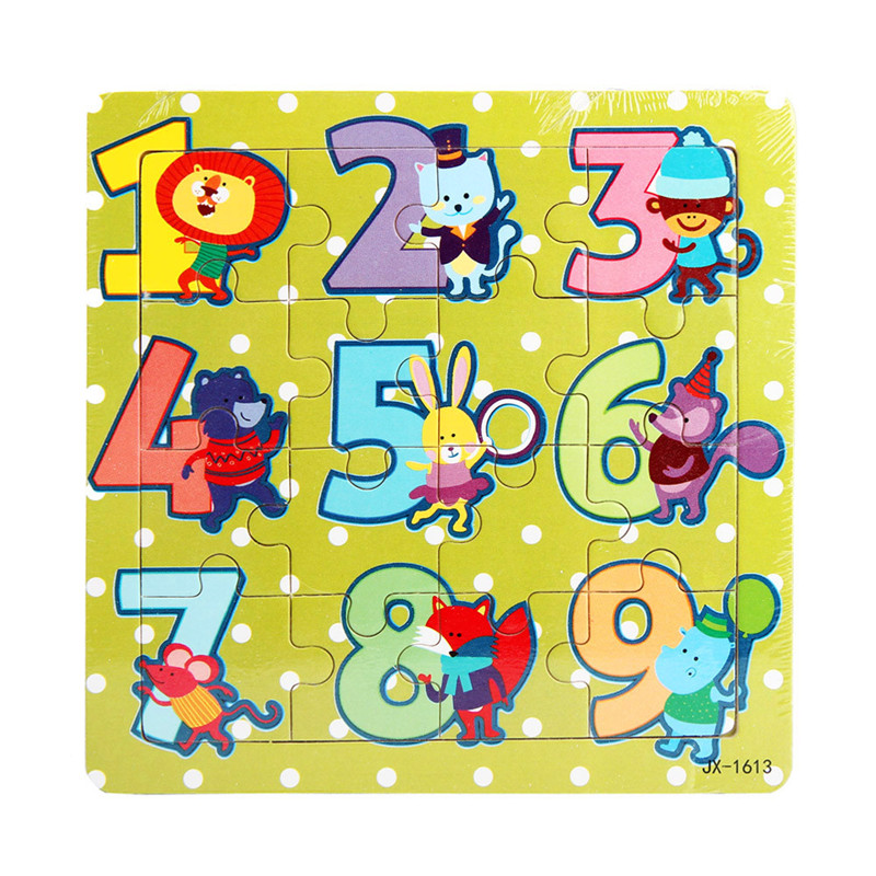 Chamsgend High Quality Wooden Kids 16 Piece Jigsaw font b Toys b font For Children Education