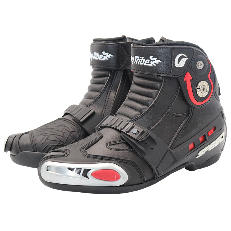 Riding Tribe Motocross Off-Road Street Racing Ankle Boots Breathable Motorcycle Motorbike Touring Riding Boots Protective Gear S riding tribe men motocross off road racing jacket motorcycle windproof waterproof riding travel clothing with 5 protective gear