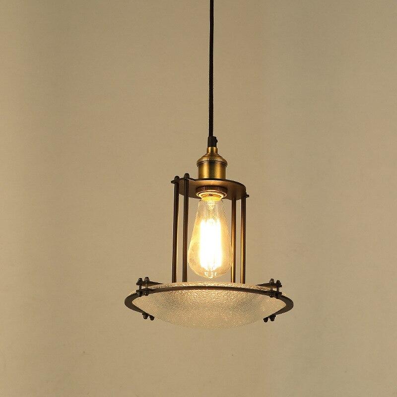 Retro Vintage Pendant Lights Water Glass Lampshade Loft Pendant Lamps E27 110V 220V for Dinning Room Home Lighting WPL179 цена и фото