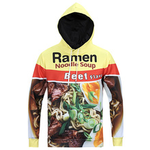 New fashion creative men sweater hoodie instant noodles egg fast food noodles pattern 3D printing thin coat shirt sweat cosplay