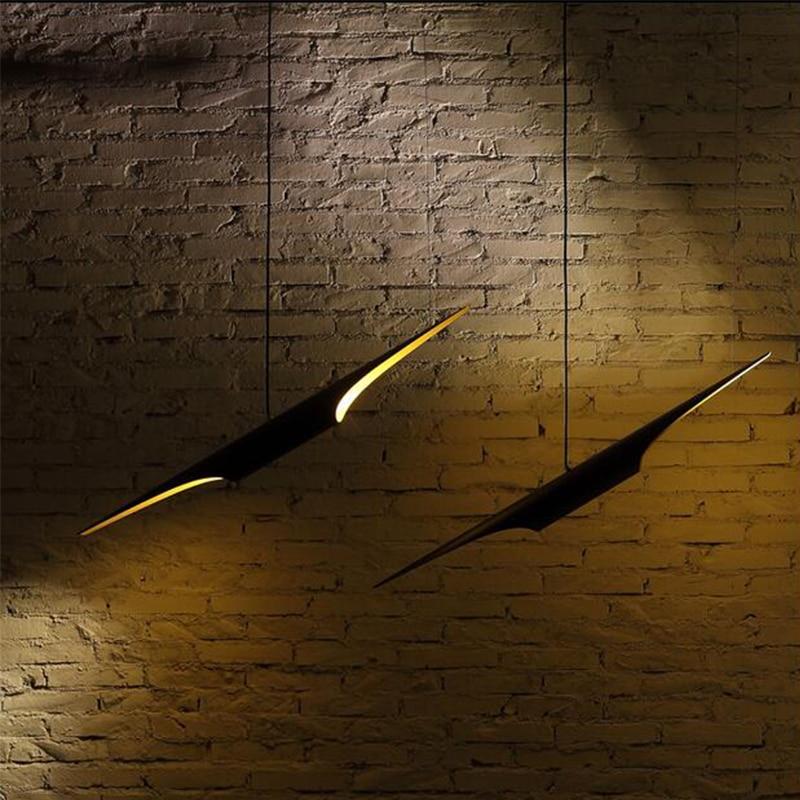 Llambadë postmoderne e zhdrejtë e prerë llambadarin e tubit të - Ndriçimit të brendshëm - Foto 3
