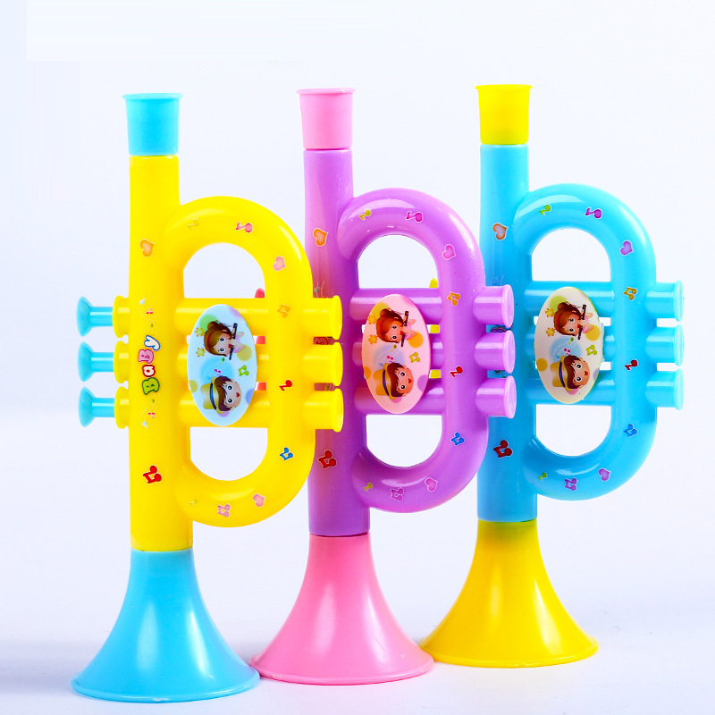 Kids Toy Baby Funny Toys For Boy Girl Colorful Baby Kids Horn Hooter Trumpet Instruments Music Toys Speaker Toy For Baby Kids
