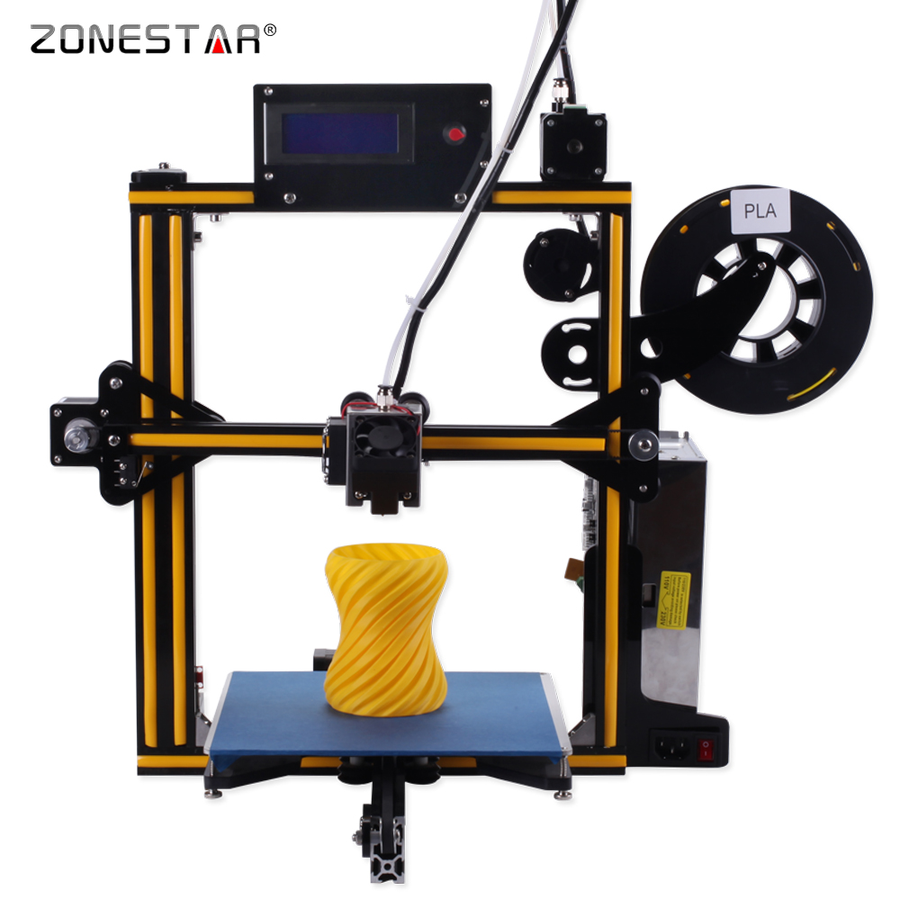 2017 Newest ZONESTAR Full Metal Aluminum Frame Optional Auto Leveling Laser Engraving Filament Run out Detect