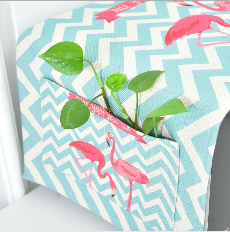 Flamingo universele verdikking katoen en linnen magnetron cover oven cover doek handdoek stof en olie bescherming cover