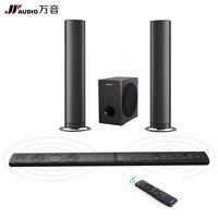 JY аудио Съемная Беспроводной Саундбар телевидение ТВ Колонки Bluetooth дома Театр 5.1 НЧ динамик объемного звучания Системы для Xiaomi projetor PC
