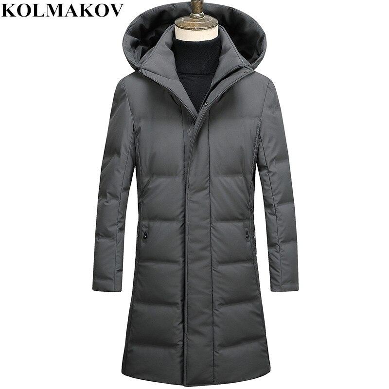 KOLMAKOV New Men's 85% Duck   Down   Jackets Winter Mens Business Long Overcoats Homme 2018 Warm M-3XL Top Quality Duck   Down     Coats