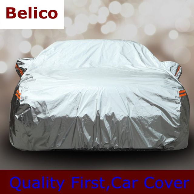 Environmental Protection Material Full Car Covers Dustproof Resist snow water sunlights Universal Gold Silver Car Covers