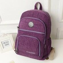 10 Цвета оригинальное качество Твердые рюкзаки для девочек школьные сумки водонепроницаемый нейлон женщин молния студент рюкзак Mochilas