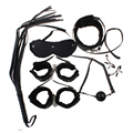 7Pcs/Set Sex BDSM Bondage Kit Sex Toys for Couples Fetish Adult Games Nipple Clamps Mouth Gag Whip Slave Collar Mask Handcuffs
