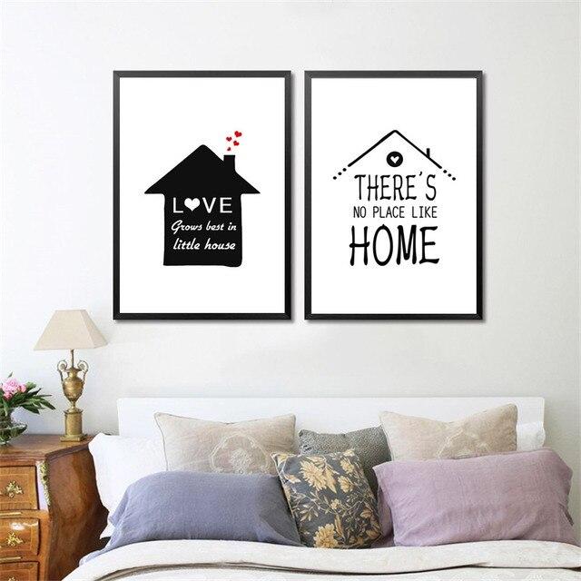 Aliexpress.com : Buy Nordic Minimalist Black White Houses Love ...