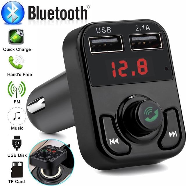 5 V 2.1A USB Sạc 12 V-24 V Bộ Phát FM Bluetooth Cầm Tay Xe Hơi Kiểu Dáng Xe MP3 nghe nhạc Bộ Điều Chế #101