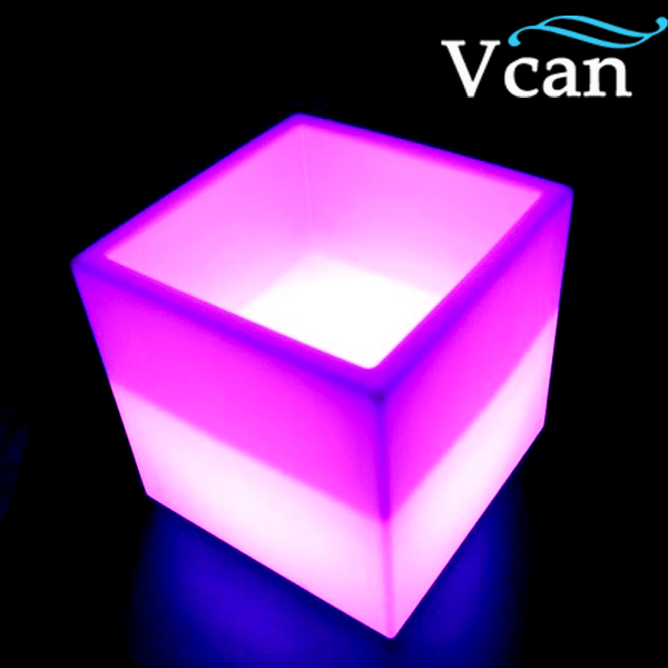 ФОТО Best quality colourful rechargeable led light ice bucket VC-F3838 for bar club