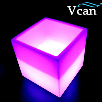 Best quality colourful rechargeable led light ice bucket VC-F3838 for bar club