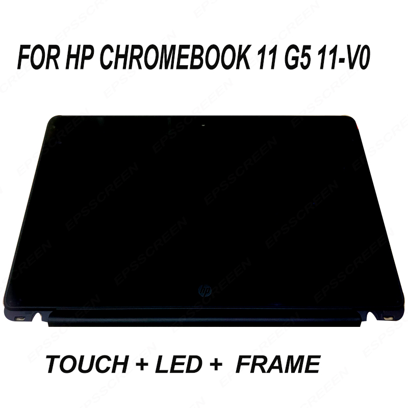 Per HP Chromebook 11-V020WM 11-V025WM 11-V020NR 11.6 HD LED LCD Touch Screen Display Assembly + Bezel Telaio del computer portatilePer HP Chromebook 11-V020WM 11-V025WM 11-V020NR 11.6 HD LED LCD Touch Screen Display Assembly + Bezel Telaio del computer portatile