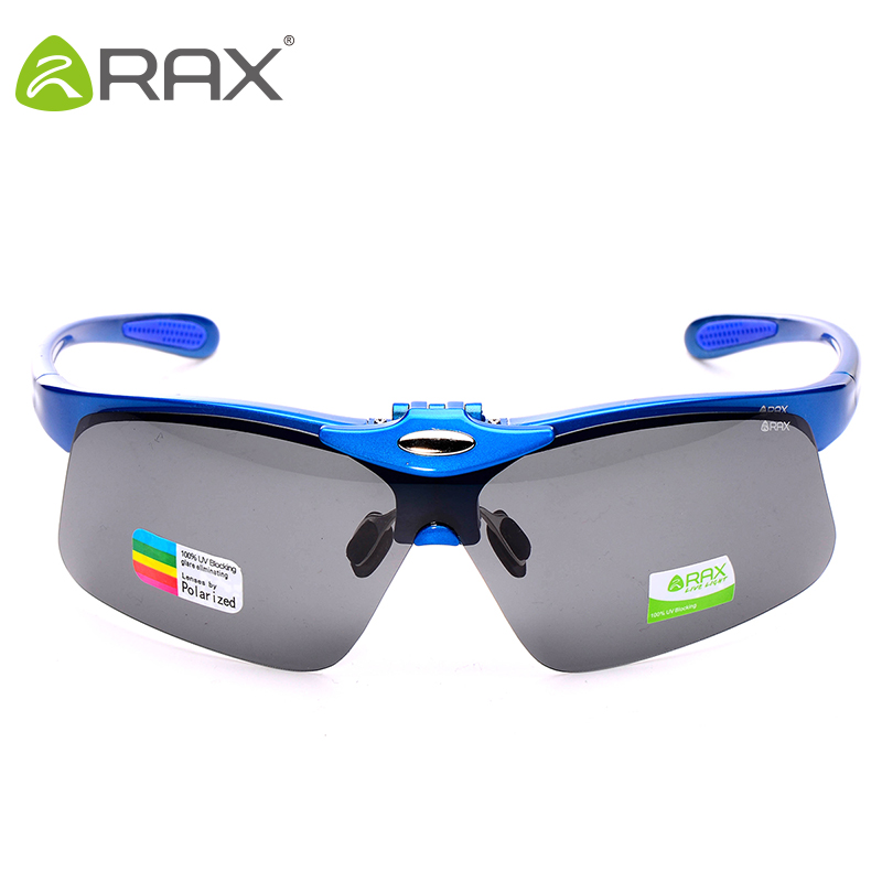 RAX Cycling Polarized Glasses UV400 Outdoor Sports Windproof Eyewear Mountain Bike Bicycle Motorcycle Glasses Sunglasses