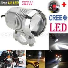 Brillante estupendo 30 w u2 led proyector del faro moto motocicleta de conducción de niebla spot de luz nocturna de seguridad a prueba de agua con 1 unids interruptor
