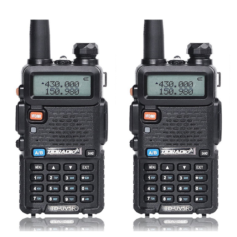 2Pcs Walkie Talkie Tid Td-Uv5R Radio Stations Vhf Uhf 136-174Mhz&400-520Mhz Skilled Transportable Ham Radio Two Walkie Talkies