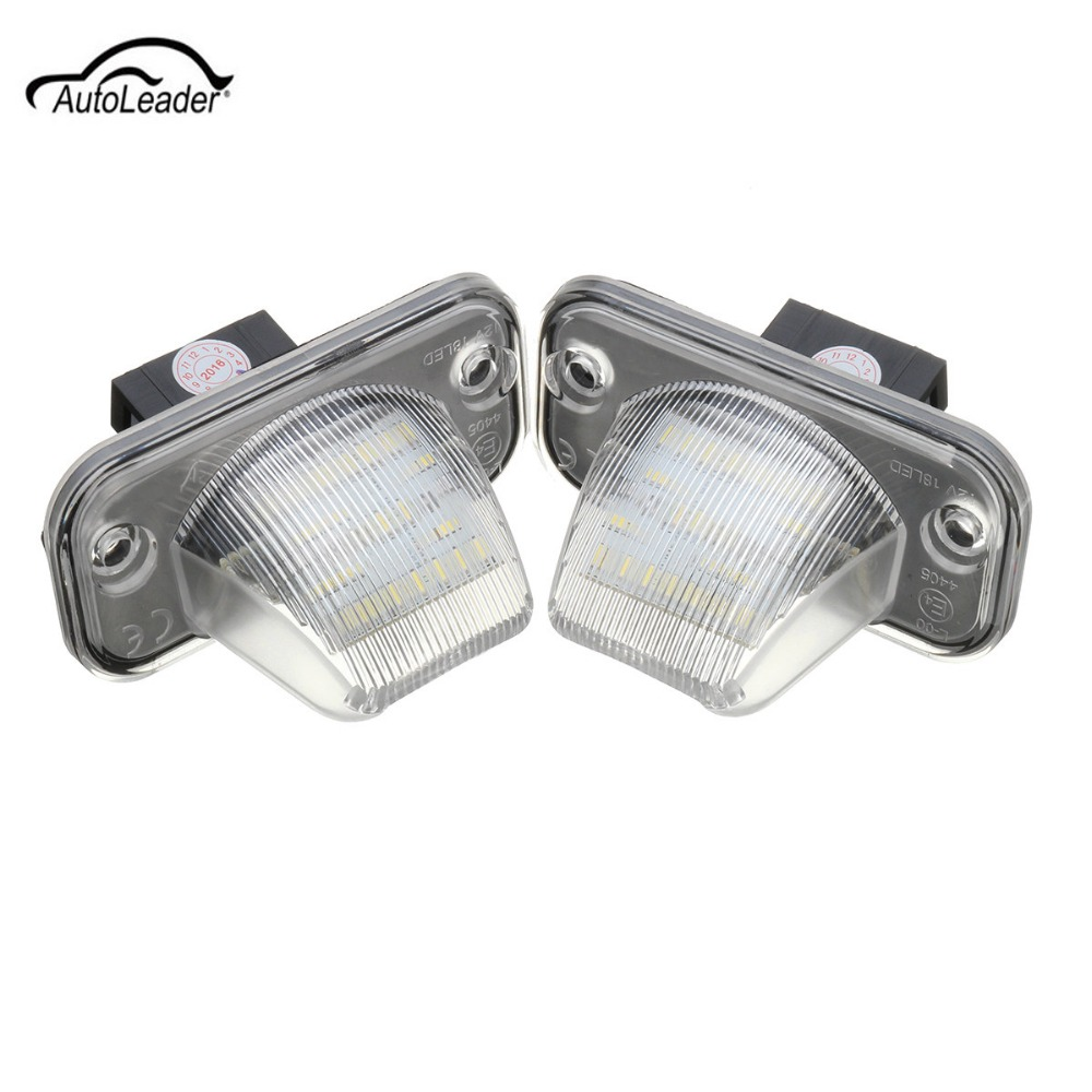 2Pcs 18 LED Car License Plate Light Error Free Number Plate Lamp For Volkswagen/VW/T4/Transporter/Passat no error car led license plate light number plate lamp bulb for vw touran passat b6 b5 5 t5 jetta caddy golf plus skoda superb